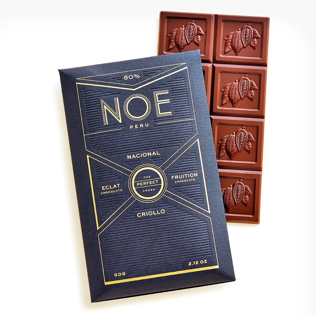 Image of Noe packaging and the bar itself.