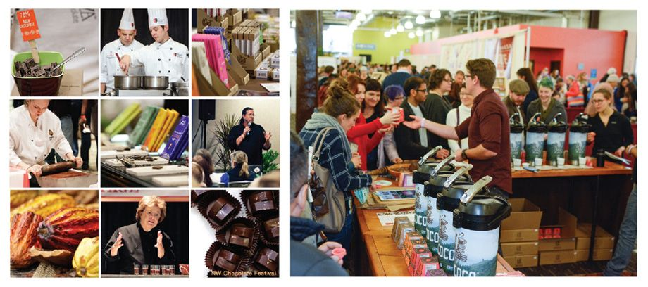 Image montage from previous NW Chocolate Festivals.