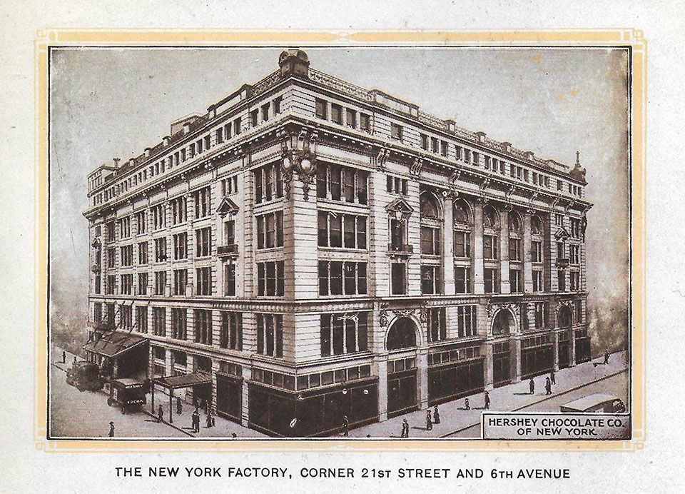 The New York Factory, from 'Hershey - The Chocolate Town,' Promotional Pamphlet, ca. 1922