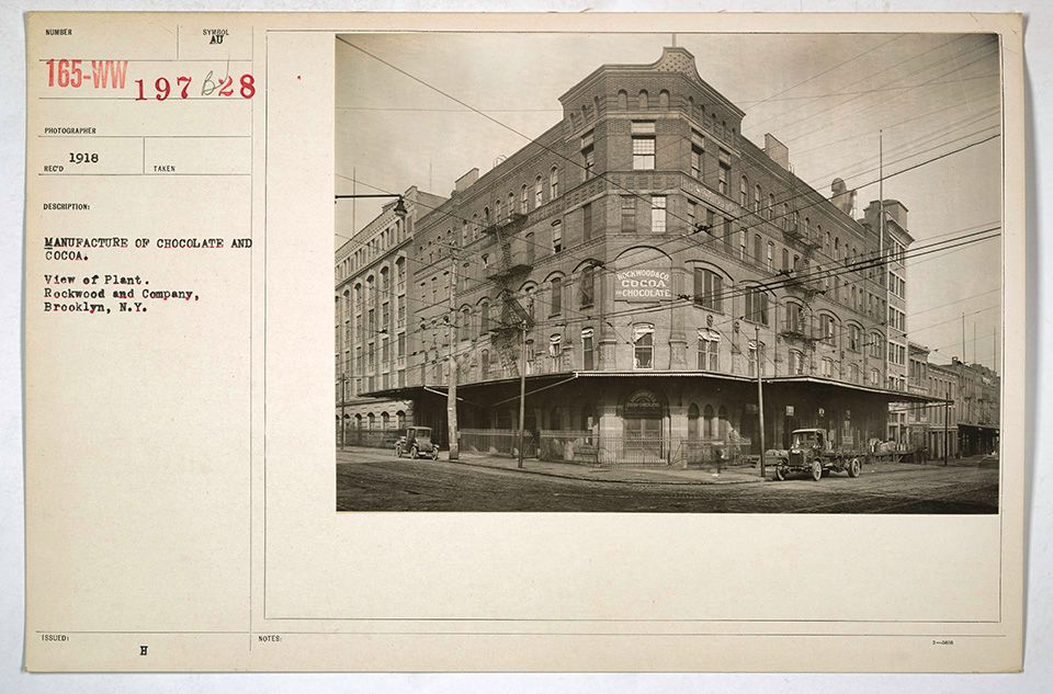 Rockwood and Co., Factory Building, Park and Washington Avenues, Brooklyn, 1918, by Underwood and Underwood. Public Domain via the National Archives
