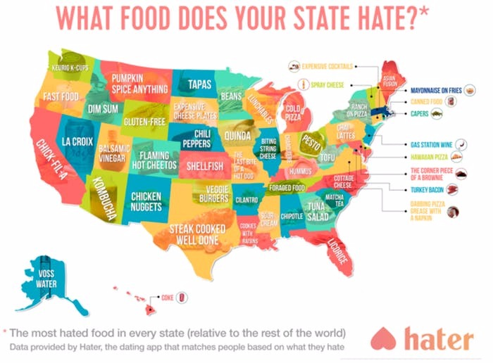 Does Any State Say They Hate Chocolate?