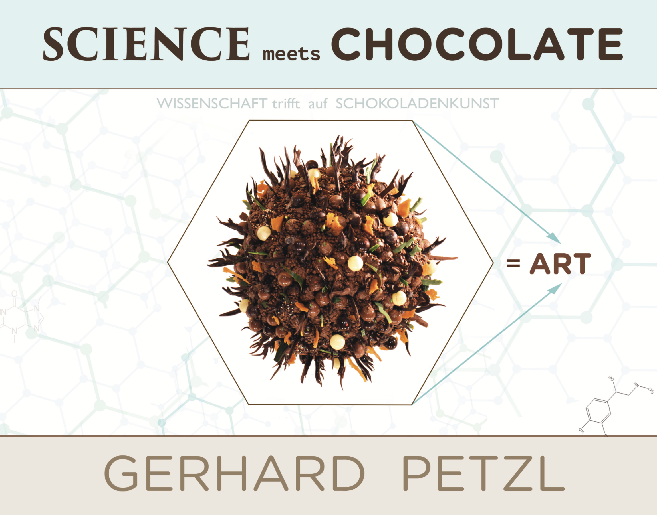 World's first 'SCIENCE meets CHOCOLATE ART' book by Gerhard Petzl available now!