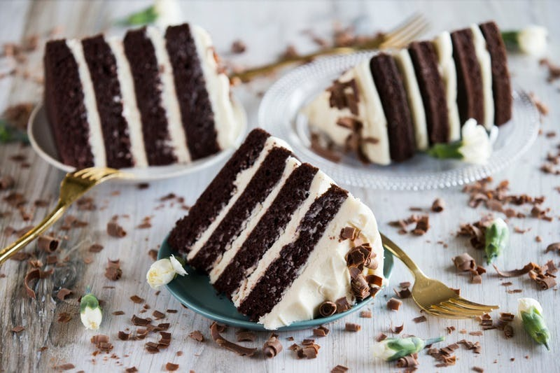 Guinness Chocolate Layered Cake with Irish Cream Cheese Icing