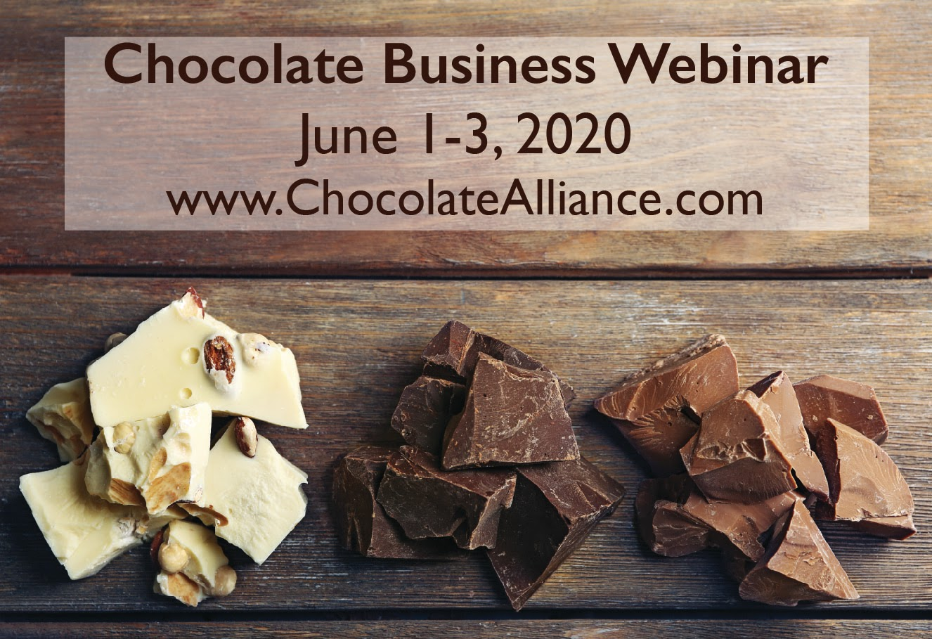 The Chocolate Alliance Announces Chocolate Business Webinar Series June 1-3